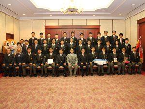 大阪桐蔭高等学校サッカー部TOP_大阪府庁訪問2017